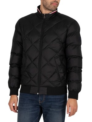 Tommy Hilfiger Two Tones Padded Bomber Jacket - Black