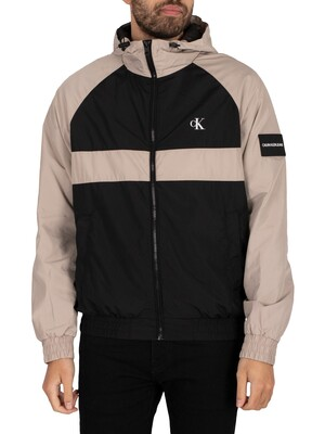 Calvin Klein Jeans Blocked Zip Through Jacket - Black/String