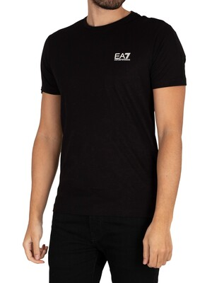 EA7 Chest Logo T-Shirt - Black/White