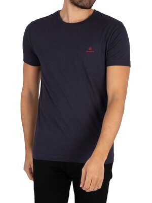 GANT Contrast Logo T-Shirt - Evening Blue