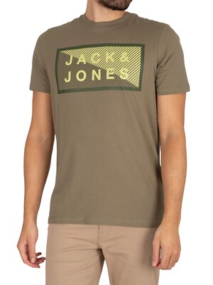 Jack & Jones Core Shawn Graphic Slim T-Shirt - Deep Lichen Green