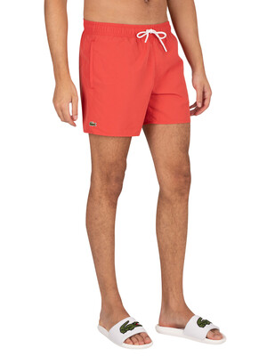Lacoste Logo Swim Shorts - Rouge