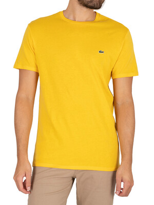 Lacoste Pima Cotton Jersey T-Shirt - Yellow