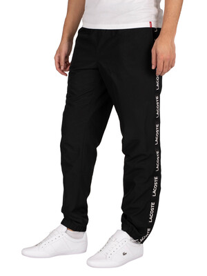 Lacoste Sport Lettered Bands Lightweight Joggers - Black