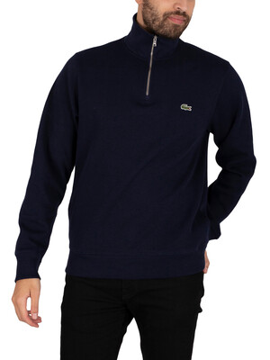 Lacoste Zip Collar Sweatshirt - Blue Marine