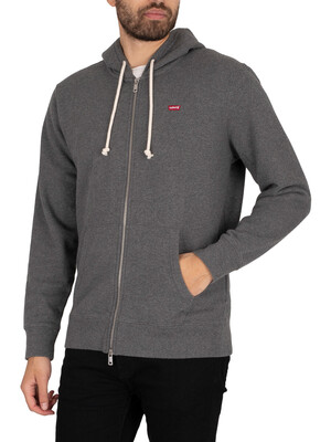 Levi's New Original Zip Hoodie - Charcoal Heather