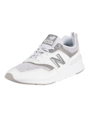 New Balance 997H Leather Trainers - White/Silver