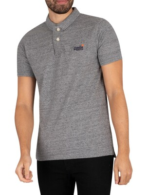 Superdry Classic Pique Polo Shirt - Flint Steel Grit