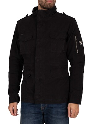 Superdry Classic Rookie Jacket - Washed Black
