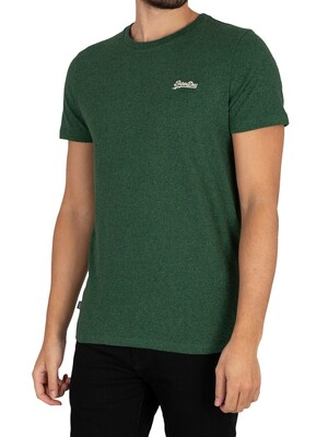 Superdry Original Logo Vintage Embroidered T-Shirt - Willow Green Grit
