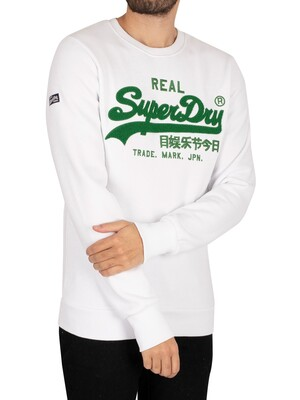 Superdry Vintage Logo Chenille Sweatshirt - Optic