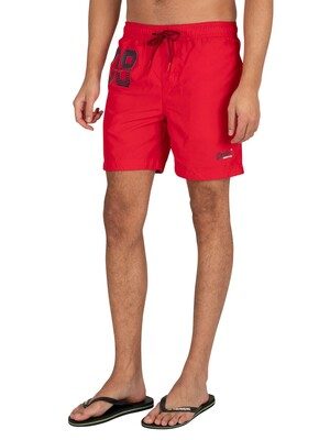 Superdry Waterpolo Swim Shorts - Flag Red