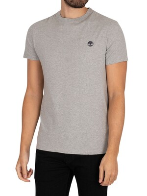 Timberland Dun River Crew Slim T-Shirt - Med Grey Heather