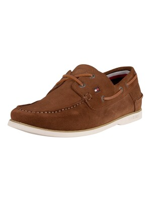 Tommy Hilfiger Classic Suede Boat Shoes - Timber
