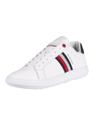 Tommy Hilfiger Essential Leather Cupsole Trainers - White