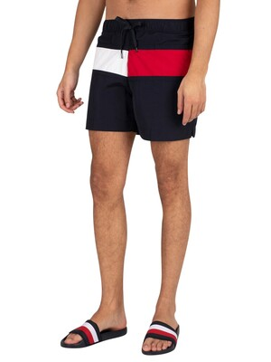 Tommy Hilfiger Medium Drawstring Regular Swim Shorts - Desert Sky