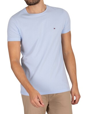 Tommy Hilfiger Stretch Slim Fit T-Shirt - Sweet Blue