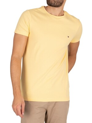 Tommy Hilfiger Stretch Slim Fit T-Shirt - Delicate Yellow