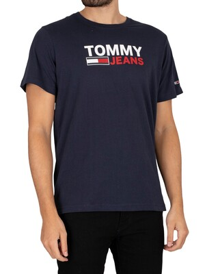 Tommy Jeans Corporate Logo T-Shirt - Twilight Navy