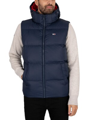 Tommy Jeans Padded Down Gilet - Twilight Navy