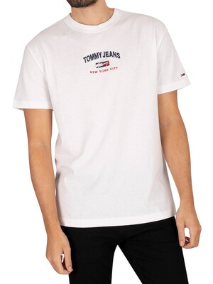 Tommy Jeans Timeless Script T-Shirt - White