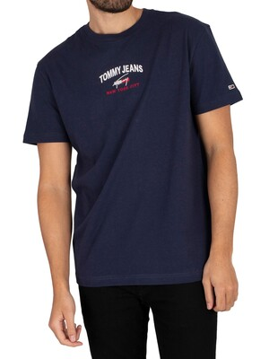 Tommy Jeans Timeless Script T-Shirt - Twilight Navy