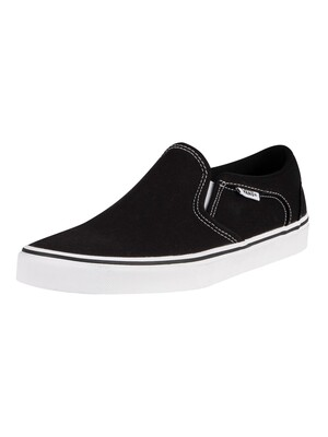Vans Asher Canvas Trainers - Black/White