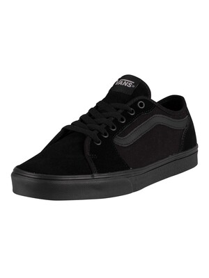 Vans Filmore Decon Suede Canvas Trainers - Black/Black