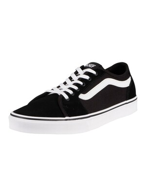 Vans Filmore Decon Suede Canvas Trainers - Black/White