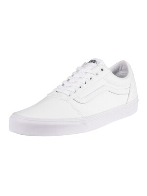 Vans Ward Canvas Trainers - White/White