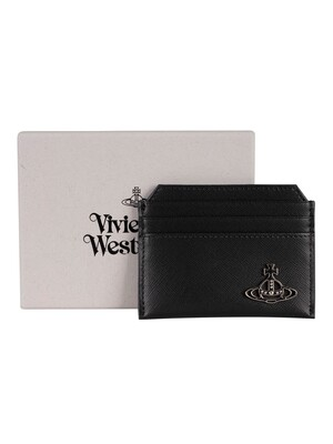 Vivienne Westwood Kent Slim Card Holder Leather Wallet - Black