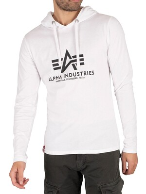 Alpha Industries Longsleeved Hooded T-Shirt - White