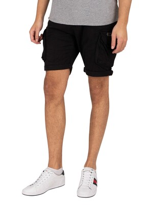Alpha Industries Crew Cargo Shorts - Black