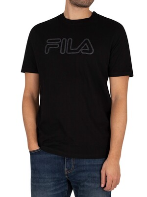 Fila Duty Glow Print T-Shirt - Black