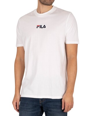 Fila Malik Embroidered Logo T-Shirt - White