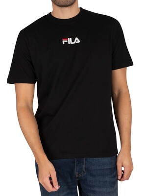 Fila Malik Embroidered Logo T-Shirt - Black