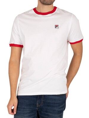Fila Marconi Ringer T-Shirt - White/Red