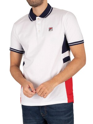 Fila Opal Cut and Sew Polo Shirt - White