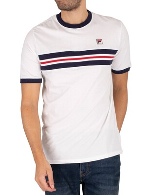 Fila Silver Cut and Sew T-Shirt - White