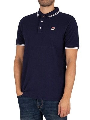 Fila Vinyl Tipped Collar Polo Shirt - Peacoat