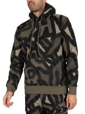 G-Star Brush Stroke Pullover Hoodie - Shamrock Brushed Objects
