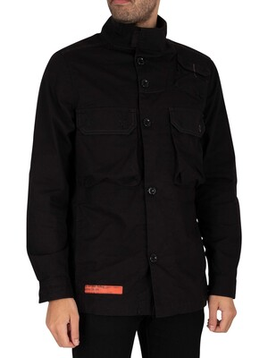 G-Star Utility Straight Overshirt - Dark Black