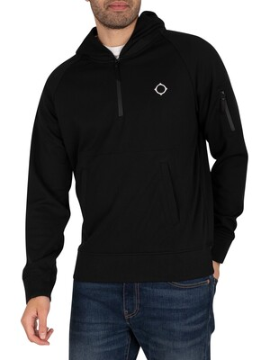 MA.STRUM Tech Fleece 1/4 Zip Hoodie - Jet Black
