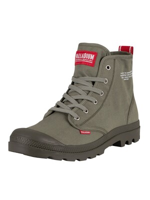 Palladium Pampa Hi Dare Boots - Olive Night