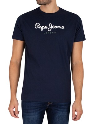 Pepe Jeans Eggo Graphic T-Shirt - Navy