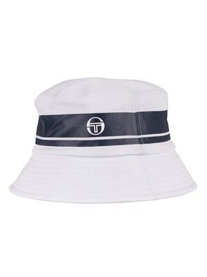 Sergio Tacchini Greater Bucket Hat - White/Navy