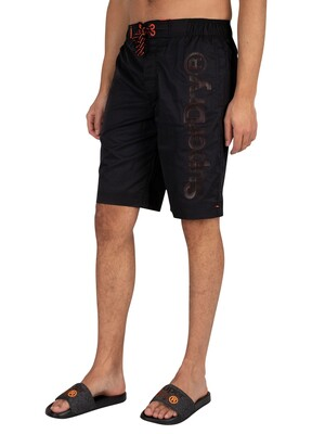 Superdry Classic Board Swim Shorts - Black