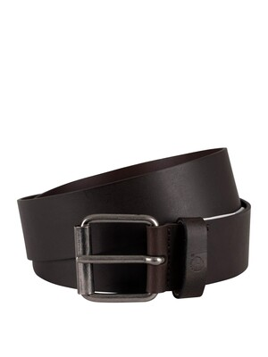 Timberland Leather Belt - Dark Brown
