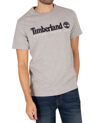 Timberland OA Linear T-Shirt - Medium Grey Heather
