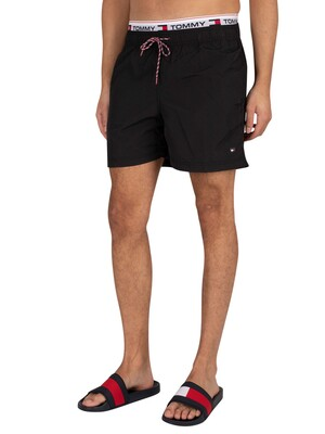 Tommy Hilfiger Medium Drawstring Swim Shorts - Black